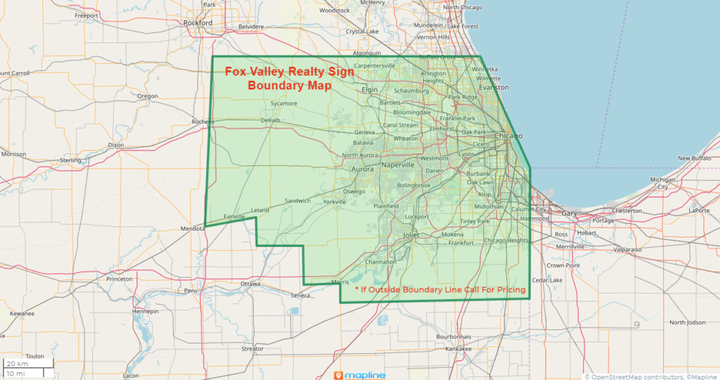 map of IL service area